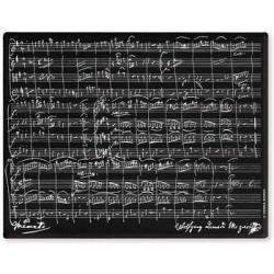 Mousepad Mozart Schwarz