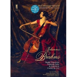 Brahms, Johannes: Music Minus One Violoncello (+3 CD's) Double Concerto a minor op.102 for violoncello, violin and orchestra