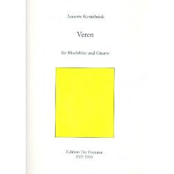 Kruisbrink, Annette: Veren : f├╝r Blockfl├Âte (wechselnd Sopranino, Alt, Bass) und Klavier