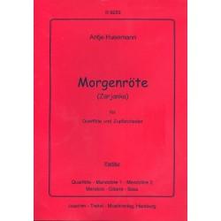 Husemann, Antje: Morgenröte : für Querflöte und Zupforchester Partitur