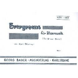 Evergreens Band 1 : für Blasmusik Flöte /Oboe