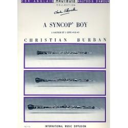 Burban, Christian: A Syncop' Boy : pour 3 hautbois et 2 cors anglais partition et parties