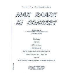 Max Raabe in Concert für Männerchor, Violine, Klavier, Kontrabass, Schlagzeug Partitur (Chorpartitur)