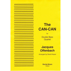 Offenbach, Jacques: The Can-Can for 4 double basses score and parts