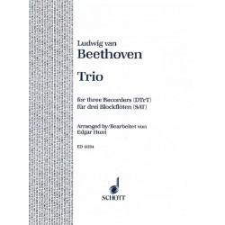 Beethoven, Ludwig van: Trio op.87 : f├╝r 3 Blockfl├Âten (SAT) Spielpartitur