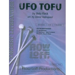 Fleck, Bela: Ufo Tofu : for percussion ensemble and electric bass score and parts