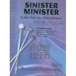 Fleck, Bela: Sinister Minister : for percussion ensemble with bass guitar score and parts
