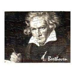 Postkarte Puzzle (48 Teile): Portrait Beethoven mit Umschlag