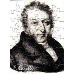 Postkarte Puzzle (48 Teile): Portrait Carulli mit Umschlag