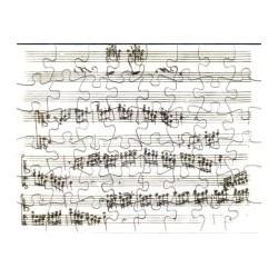 Postkarte Puzzle (48 Teile): Toccata von Scarlatti mit Umschlag