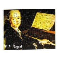 Postkarte Puzzle (48 Teile): Portrait Mozart mit Umschlag