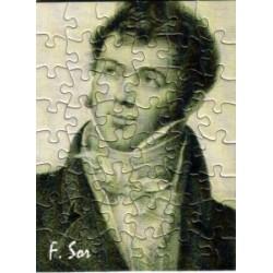 Postkarte Puzzle (48 Teile): Portrait Sor mit Umschlag
