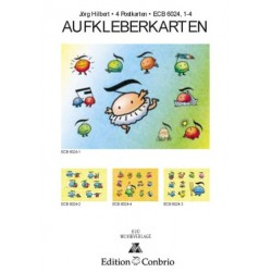 Hilbert, Jörg: Aufkleberkarten 4 Postkarten mit Aufklebern