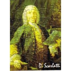 Postkarte Puzzle (48 Teile): Portrait Scarlatti mit Umschlag