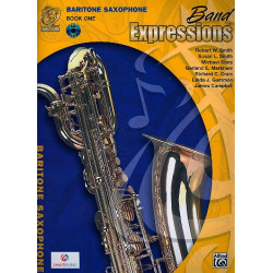 Band Expressions vol.1 (+CD) : for bariton saxophone