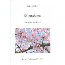 Caldini, Fulvio: Sakurabana : für 2 Blockflöten (AT) und Klavier Partitur und Stimmen