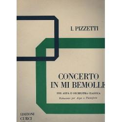 Pizzetti, Ildebrando: Concerto mi bemolle maggiore per arpa e orchestra : per arpa e pianoforte