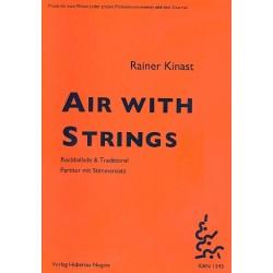 Kinast, Rainer: Air with Strings für 2 Flöten und 3 Gitarren Partitur und Stimmen