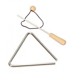 Triangel 8mm Tonstahl, 10 cm, mit Schlaufe und Schlägel