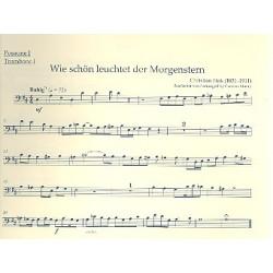 5 Choralvorspiele der Romantik : für Orgel und Blechbläser (Posaunenchor) Posaune 1