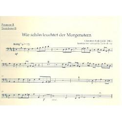 5 Choralvorspiele der Romantik : für Orgel und Blechbläser (Posaunenchor) Posaune 2