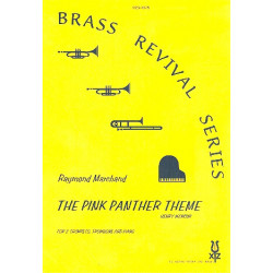 Mancini, Henry: The Pink Panther Theme : for 2 trumpets, trombone and piano score and parts