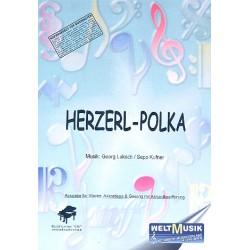 Luksch, Georg: Herzerl-Polka : Einzelausgabe für Gesang und Klavier mit Akkordbez.