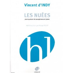 D'Indy, Vincent: Les nu├®es : pour 4 saxophones (SAAT) et piano partition