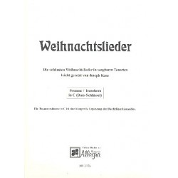 Weihnachtslieder in sangbaren Tonarten : für Blechbläser Posaune/Tenorhorn in C (Bassschlüssel)