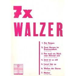 7 x Walzer : f├╝r eine Singstimme und Klavier