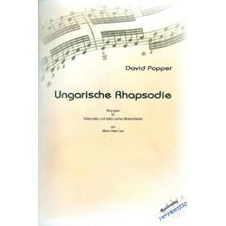 Popper, David: Ungarische Rhapsodie für Violoncello und Blasorchester Partitur und Stimmen