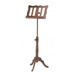 K&M 117 Holznotenpult Buchenholz nussbaumfarbig, barocke Form