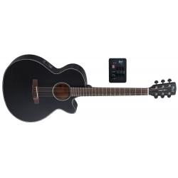 Cort SFX-E Elektro-Akustikgitarre mit Tonabnehmer und Cutaway, schwarz matt