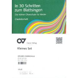 In 30 Schritten zum Blattsingen - die Kölner Chorschule für Kinder : für Kinderchor kleines Set (Chorleiterheft (+DVD) und