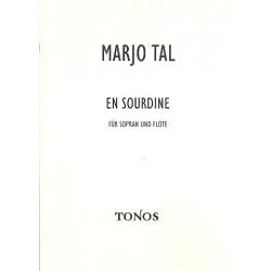 Tal, Marjo: En sourdine : für Sopran und Flöte