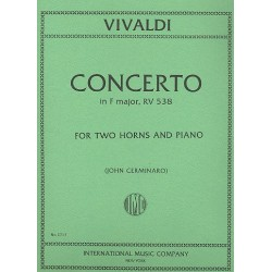 Vivaldi, Antonio: Concerto f major RV538 for 2 horns and piano parts