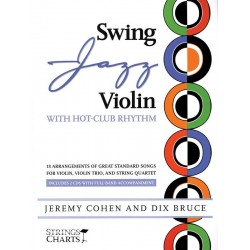 Swing Jazz Violin (+2CD's) : for violin, violin trio and string quartet score