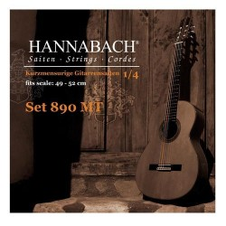 Hannabach 890MT Konzertgitarrensaiten 1/4 (Mensur 49-52cm) SATZ