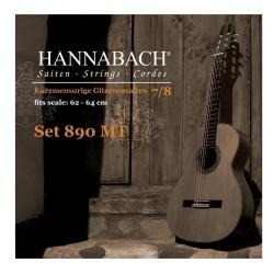 HANNABACH 890 Konzertgitarrensaiten 7/8 (Mensur: 62-64cm) SATZ
