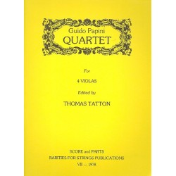 Papini, Guido: Quartet : for 4 violas score and parts