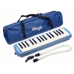 STAGG Melodica mit 32 Tasten, blau (inkl. Tasche)