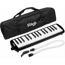 STAGG Melodica mit 32 Tasten, schwarz (inkl. Tasche)