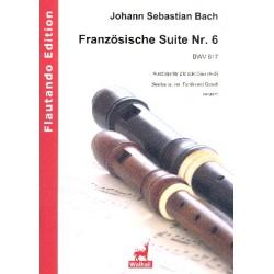 Bach, Johann Sebastian: Franz├Âsische Suite Nr.6 BWV817 (Ausz├╝ge) : f├╝r 2 Blockfl├Âten (AB) Partitur und Stimme
