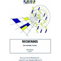 Benetti, Didier: Recuerdos : pour marimba et piano