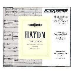 Haydn, Franz Joseph: 3 Trios für Klarinette, Vl, Vc : CD mit der Begleitung zur Solo- Klarinette