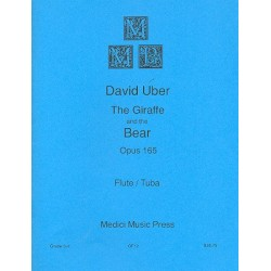 Uber, David: The Giraffe and the Bear op.165 : for flute and tuba score and parts