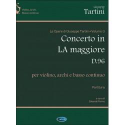 Tartini, Giuseppe: Konzert A-Dur D96 für Violine, Streicher und Bc Partitur