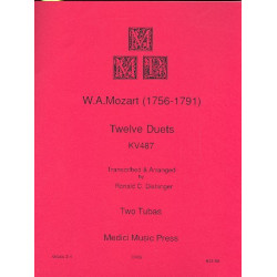 Mozart, Wolfgang Amadeus: 12 Duets KV487 : for 2 tubas score