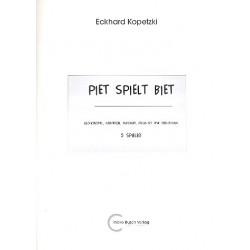 Kopetzki, Eckhard: Piet spielt Biet für Glockenspiel, Vibraphon, Marimba, Drumset und Percussion Partitur und Stimmen