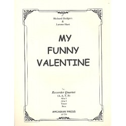 Rodgers, Richard: My funny Valentine : for 4 recorders (AATB) score and parts
